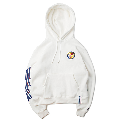 Ceremony Tape Wide hoodie_WHITE