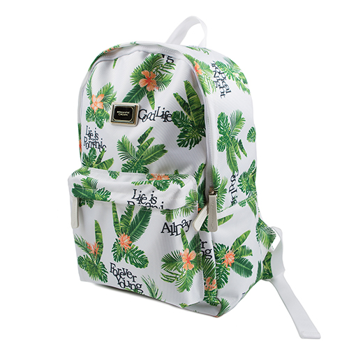 Tropical Backpack_White