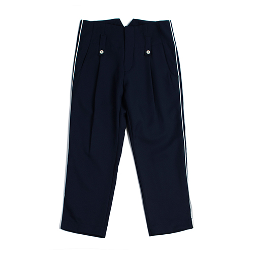 Piping Capri pants_Navy