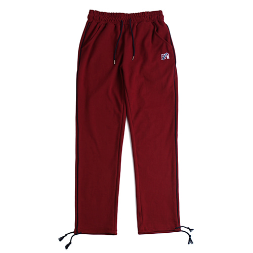 Piping Sweat Pants_Burgundy