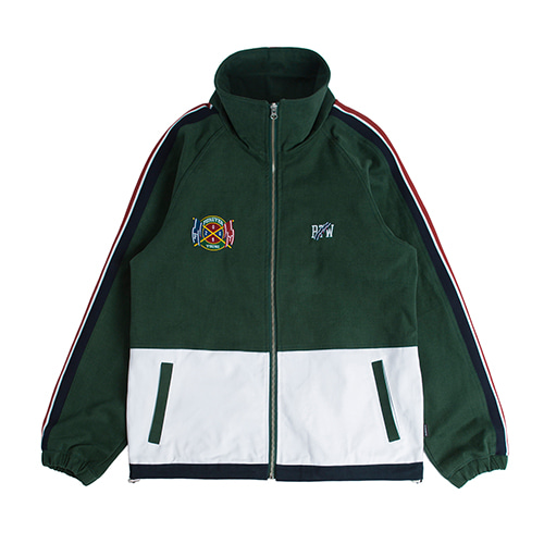 Flag Cotton Track Jacket_Green