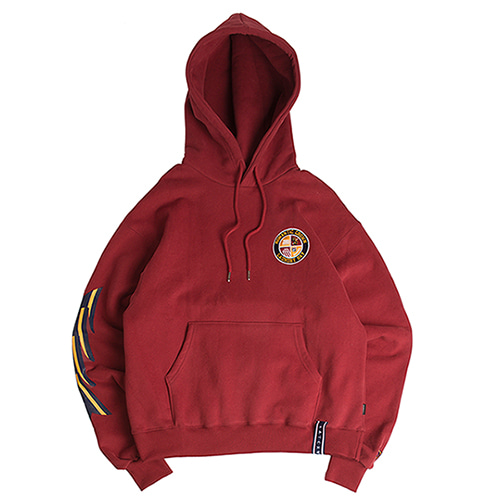 Ceremony Tape Wide hoodie_Burgundy