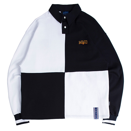 Quarter Block Polo Shirt_White