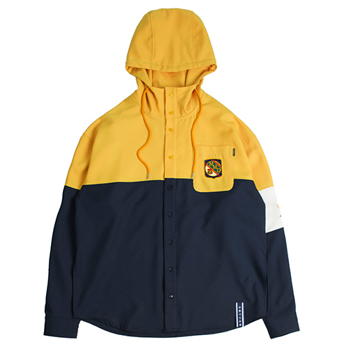 Partition Hood Shirt_Mustard