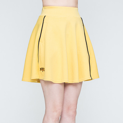 Piping Flare Skirt_Butter