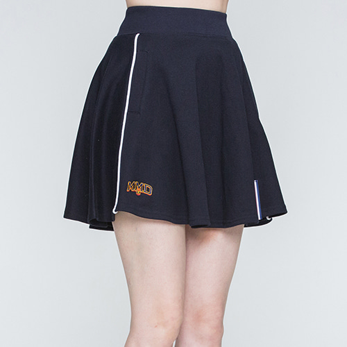 Piping Flare Skirt_Navy