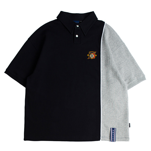 Piping Polo Shirts_Navy