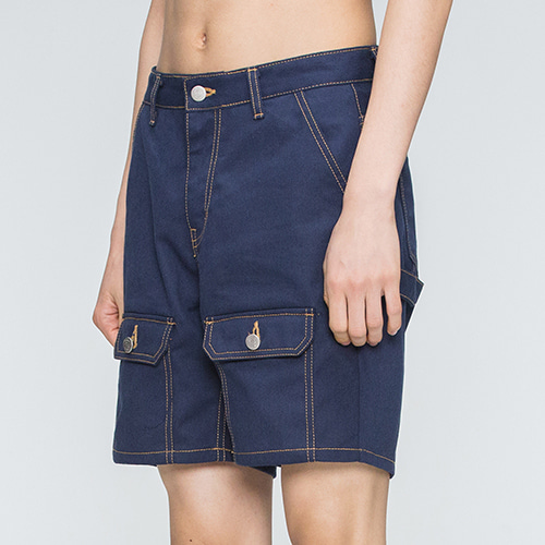 Two Way Pocket Pants_Navy