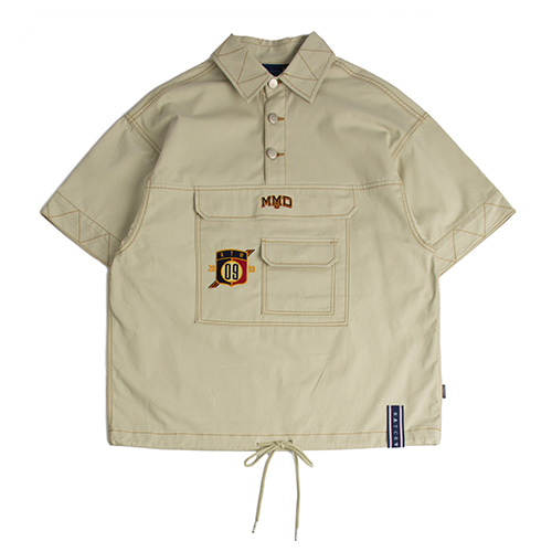 Cotton Half Anorak_Beige