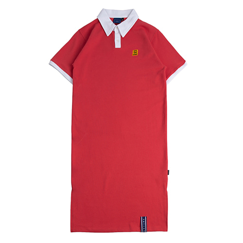 Collar Cotton Dress_Red