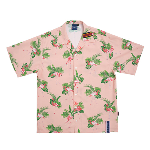 Flamingo Bowling Shirt_Pink