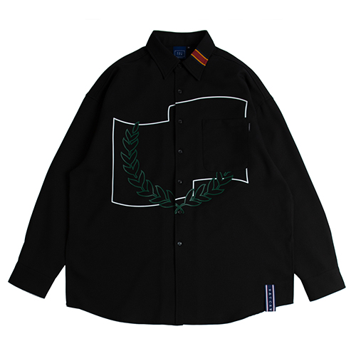 Laurel Crown Shirt_Black