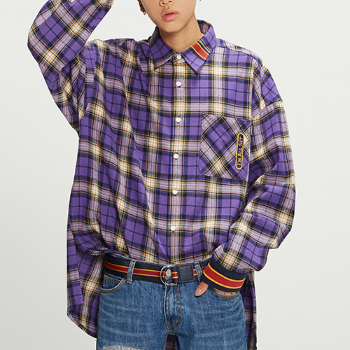 RMTCRW Check Shirt_Purple