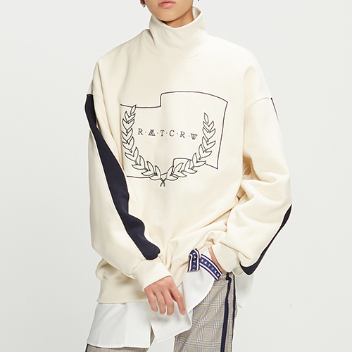 Half Zip Up Turtleneck_Oatmeal