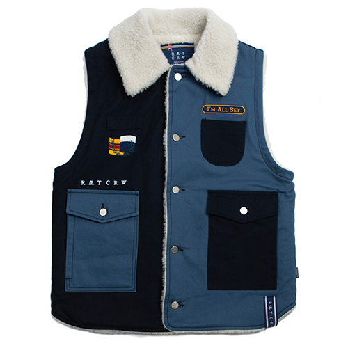 Retro Hunting Vest_Navy