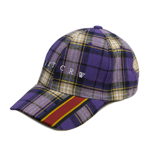 Webbing Check Ball Cap_Purple