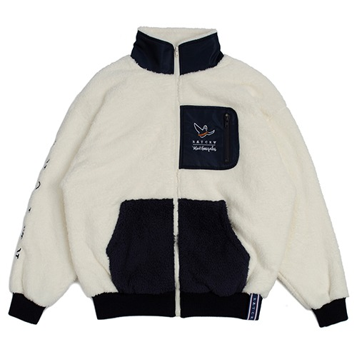 [R.C X M.G]Pocket Heavy Fleece Jacket_Oatmeal