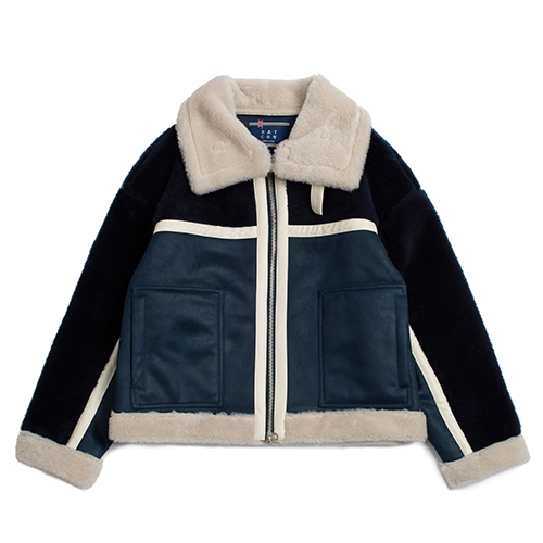 RMTC Aviator Mouton Jacket_Navy