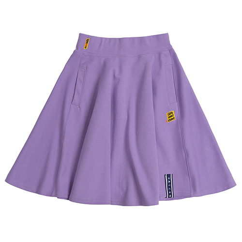 Mid Line Flare Skirt_Purple
