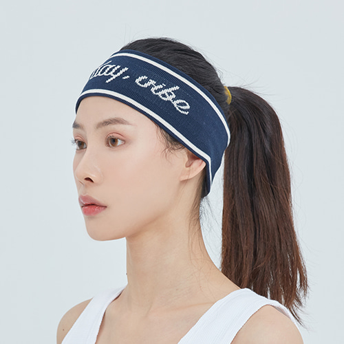 Easy Day Vibe Hair Band_Navy