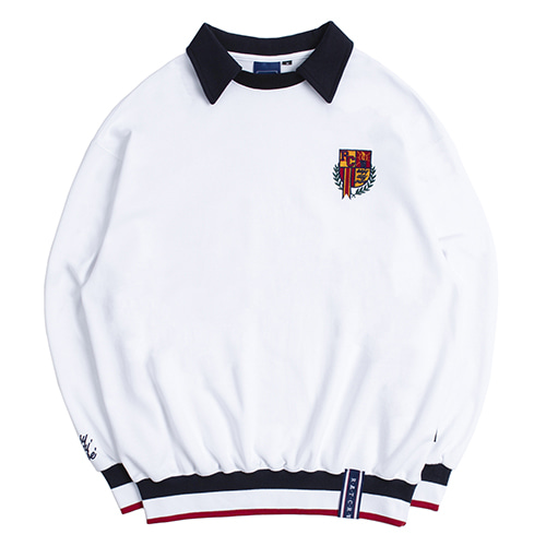 E.D.V COLLAR CREW NECK_WHITE