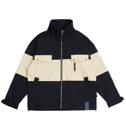Easy Day Vibe Combination Jacket_Navy