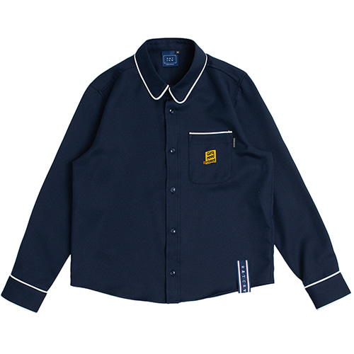 GNAC Piping Shirt_Navy