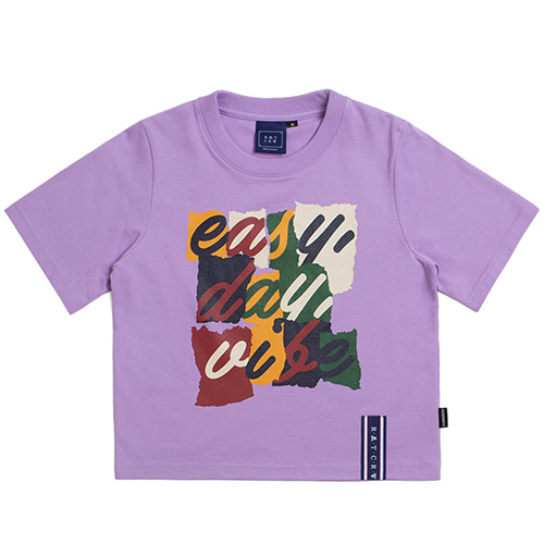 E.D.V Splinter Crop T Shirt_Purple