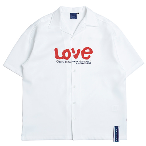 [R.C X M.G]WITH LOVE Souvenir Shirts_White
