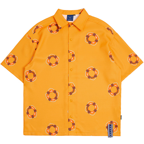 LIFE BELT BOWLING SHIRTS_YELLOW