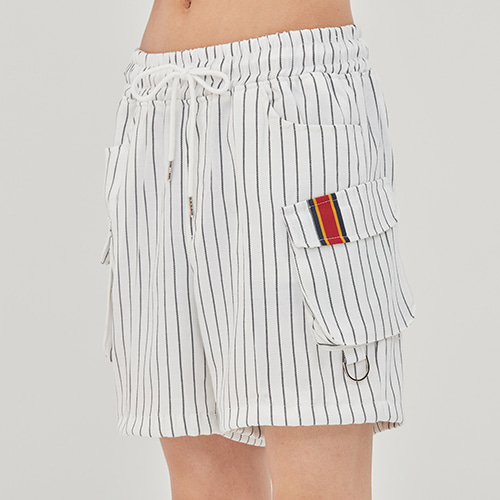 E.D.V Stripe Shorts_White