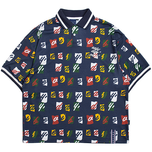 E.D.V Splinter Polo Shirt_Navy
