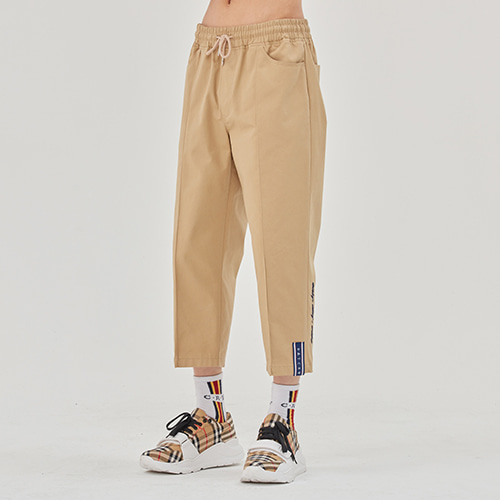 E.D.V COTTON ANKLE PANTS_BEIGE