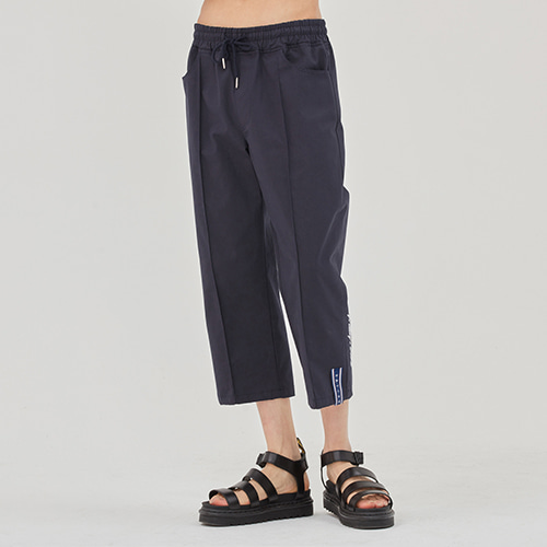 E.D.V Cotton Ankle Pants_Navy