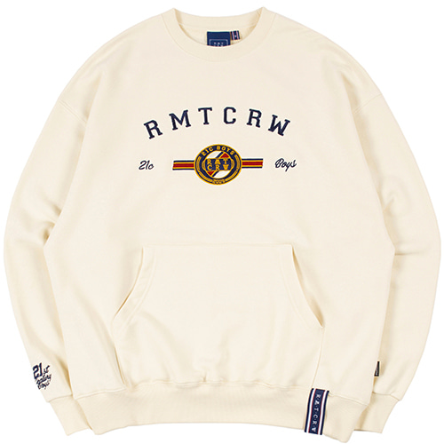 RMTCRW LOGO POCKET SWEATSHIRT_OATMEAL
