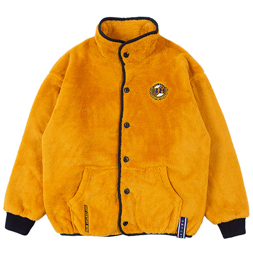 BUTTON FLEECE JUMPER_YELLOW