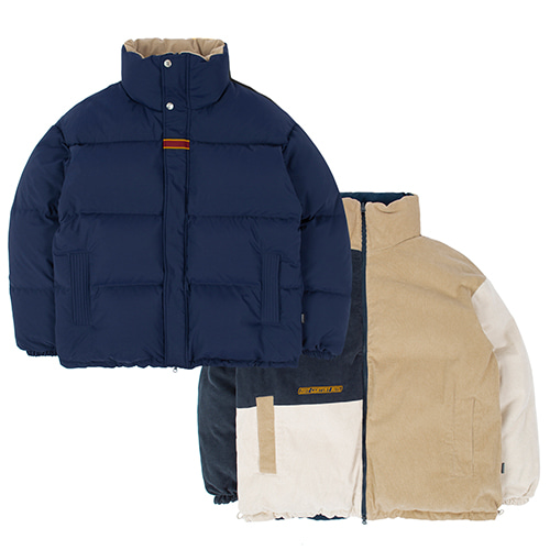 21C BOYS REVERSIBLE DUCK DOWN PARKA_NAVY