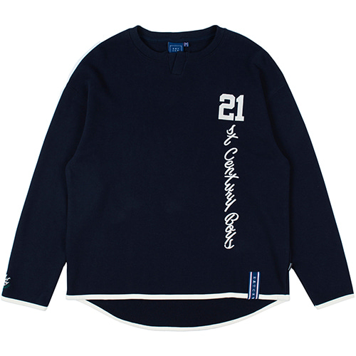 21C BOYS HENLEY NECK_NAVY