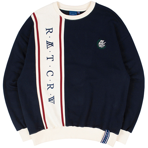 CROSS LINE SWEATSHIRT_NAVY