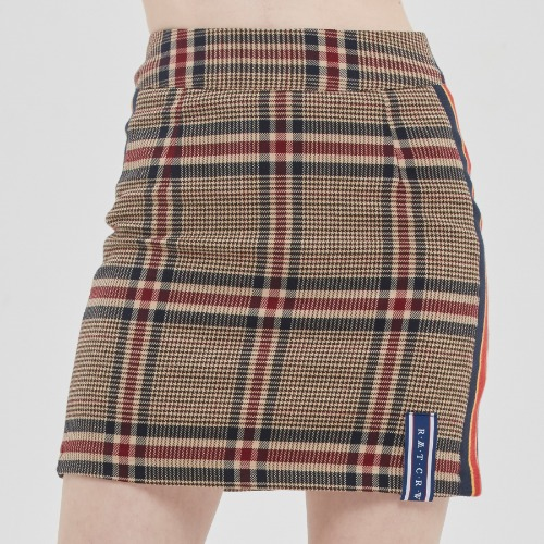 OLD CHECK SKIRT_BEIGE