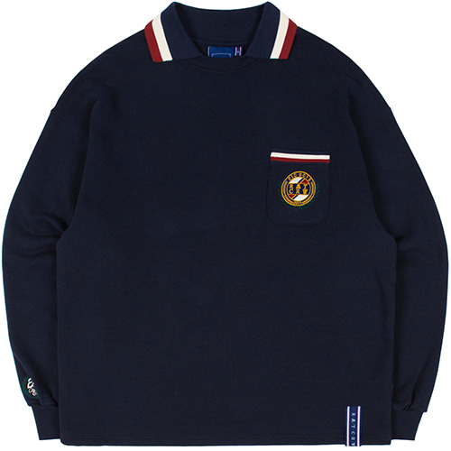 21C BOYS COLLAR CREWNECK_NAVY
