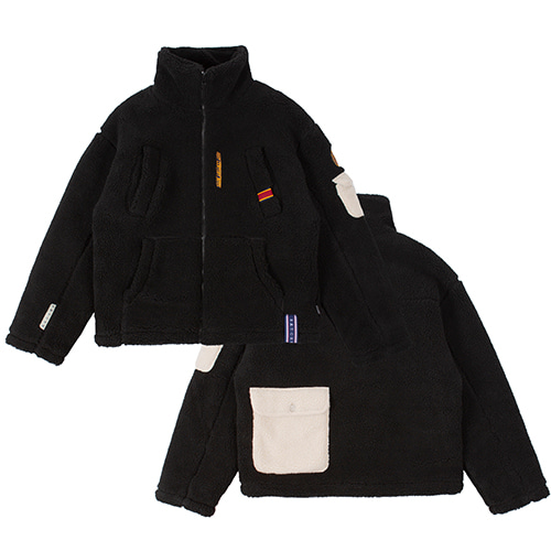 POLAR BEAR FLEECE JUMPER_BLACK