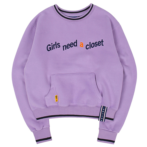 GNAC POCKET SWEATSHIRT_PURPLE