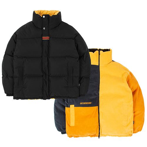 21C BOYS REVERSIBLE DUCK DOWN PARKA_BLACK
