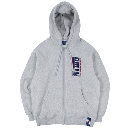 RMTC LOGO HOOD ZIP UP_GREY