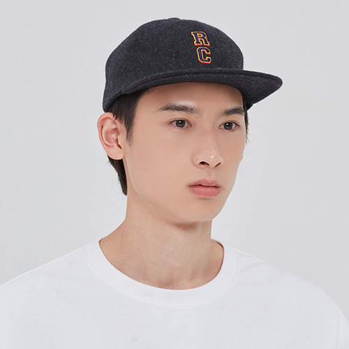 RC LOGO WOOL BALL CAP_CHARCOAL