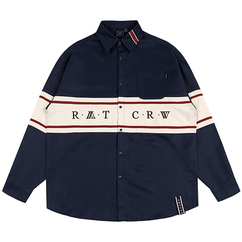 RMTCRW CROSS LINE SHIRT_NAVY