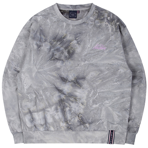 TIE DYE LOGO SWEAT SHIRT_GREY
