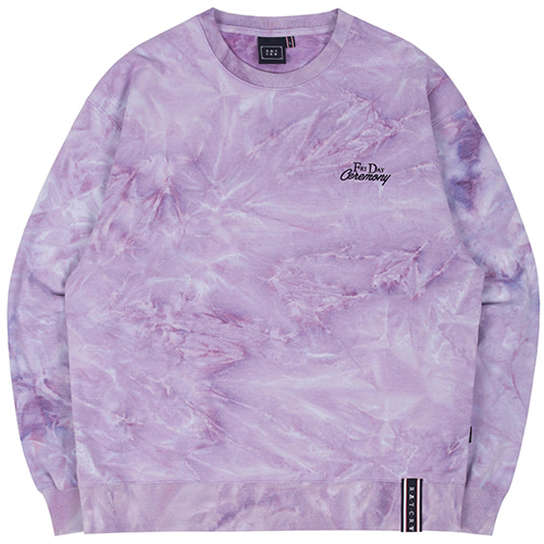TIE DYE LOGO SWEAT SHIRT_PURPLE