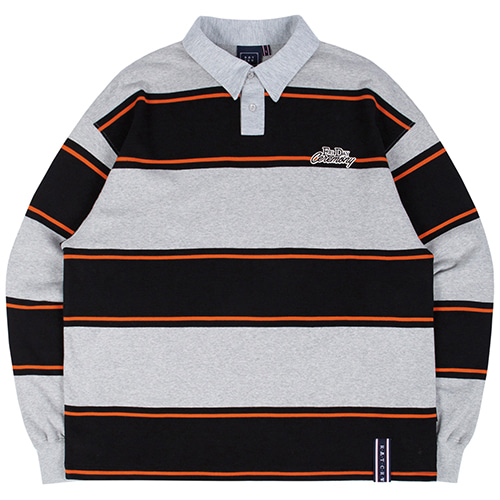 STRIPED POLO SHIRT_GREY